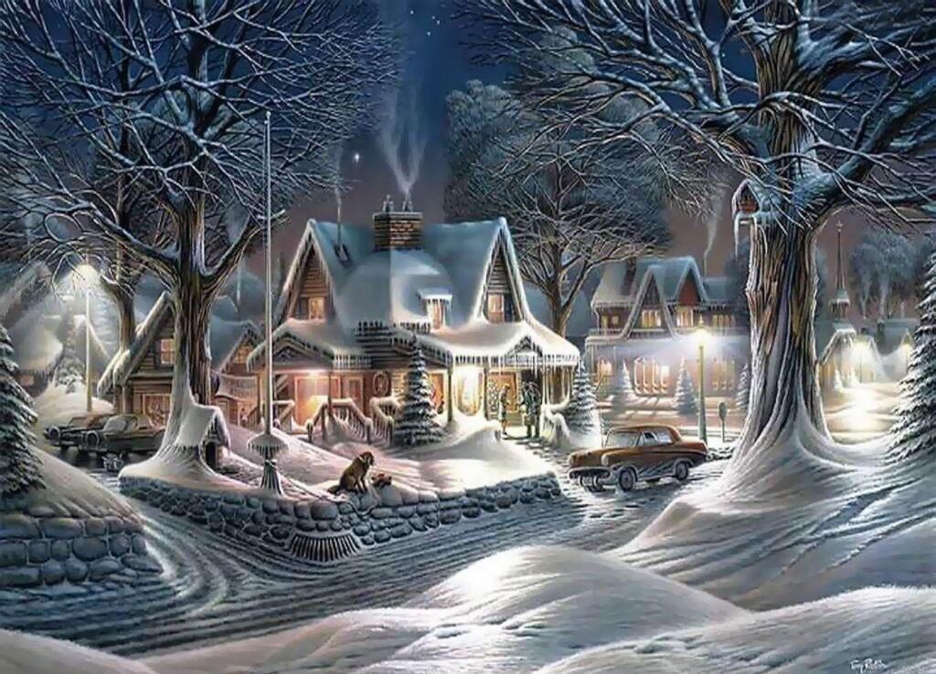 Paesaggio natalizio sui Racconti di Natale