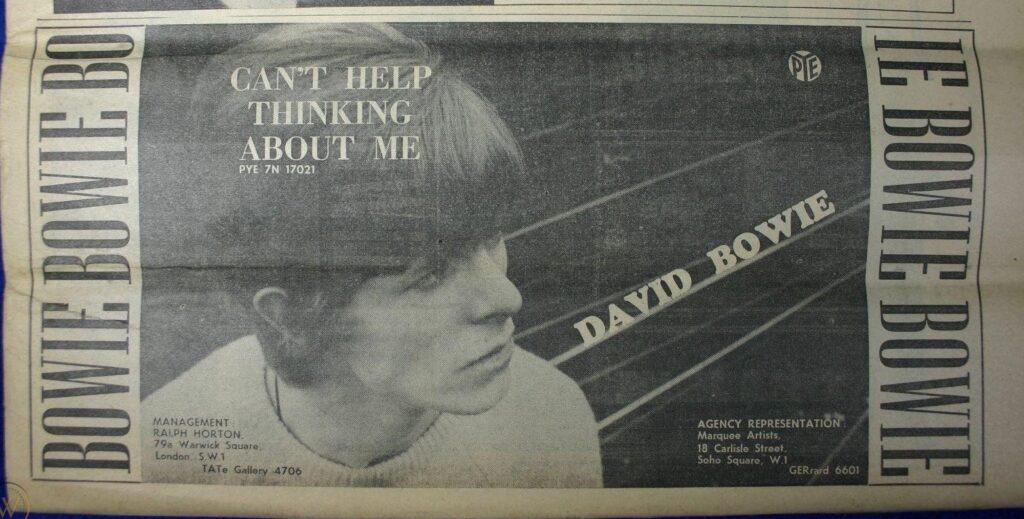 Un articolo del 1966 dedicato a David Bowie.