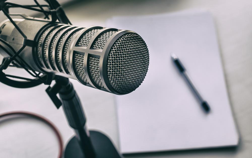 Podcast cultura, microfono
