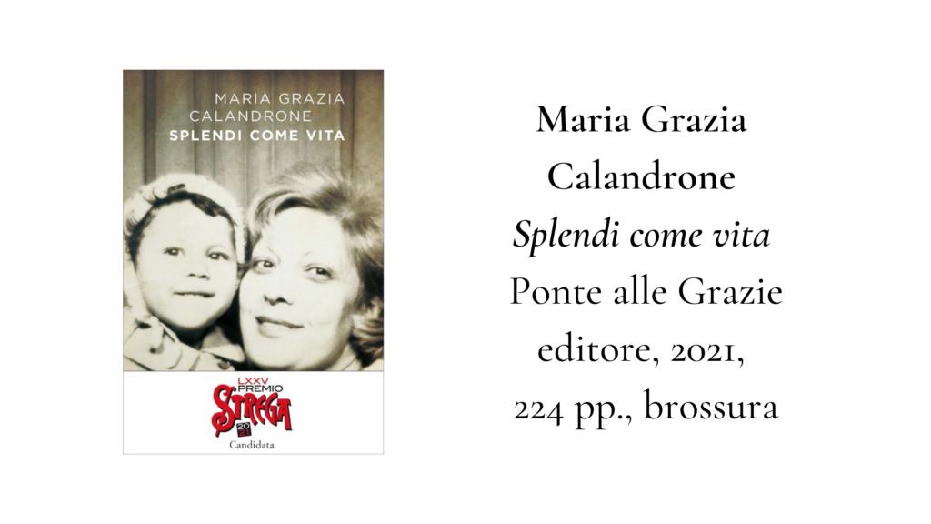 Maria Grazie Calandrone, libro