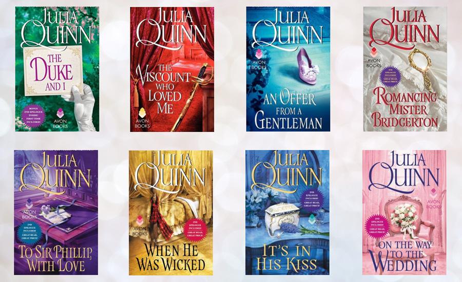 Bridgerton libri: le otto copertine della serie in lingua inglese